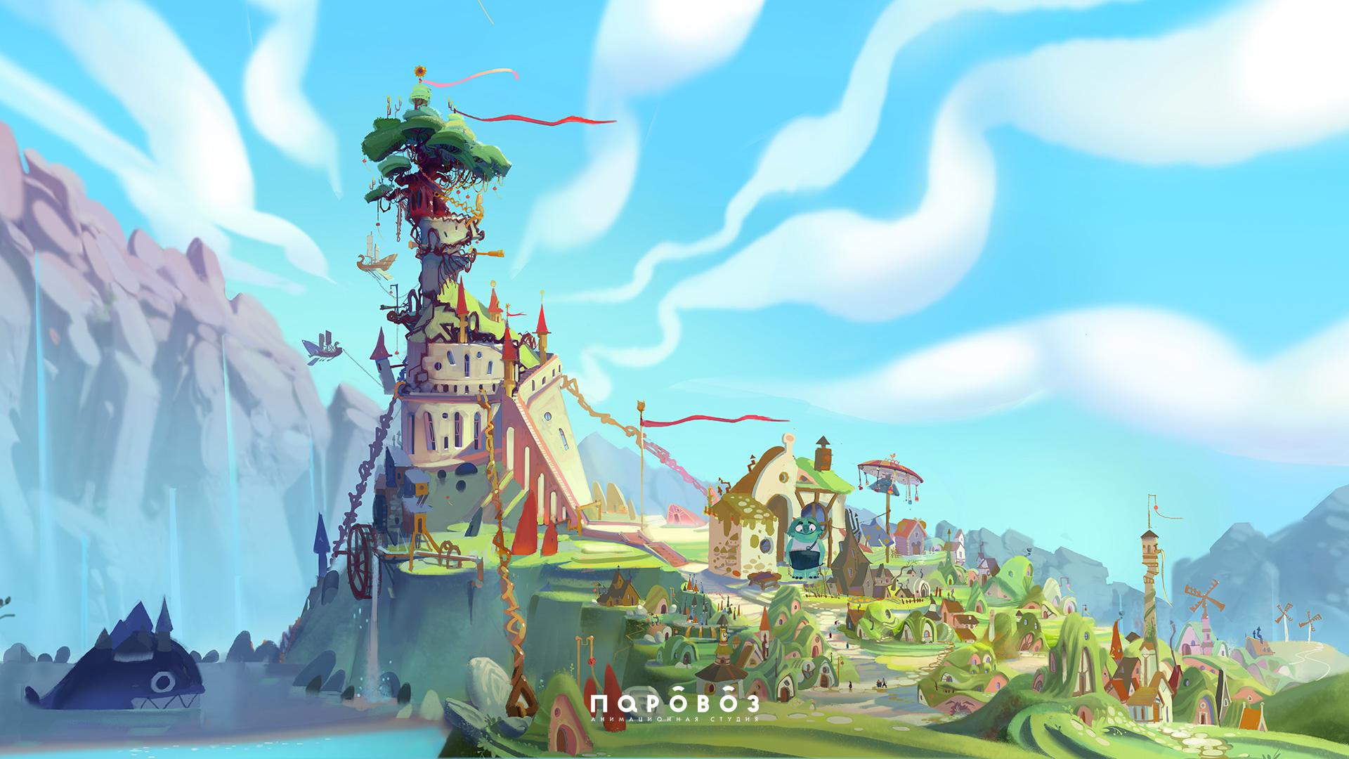 Настоящая история Кощея от анимационной студии Паровоз • Концепт города