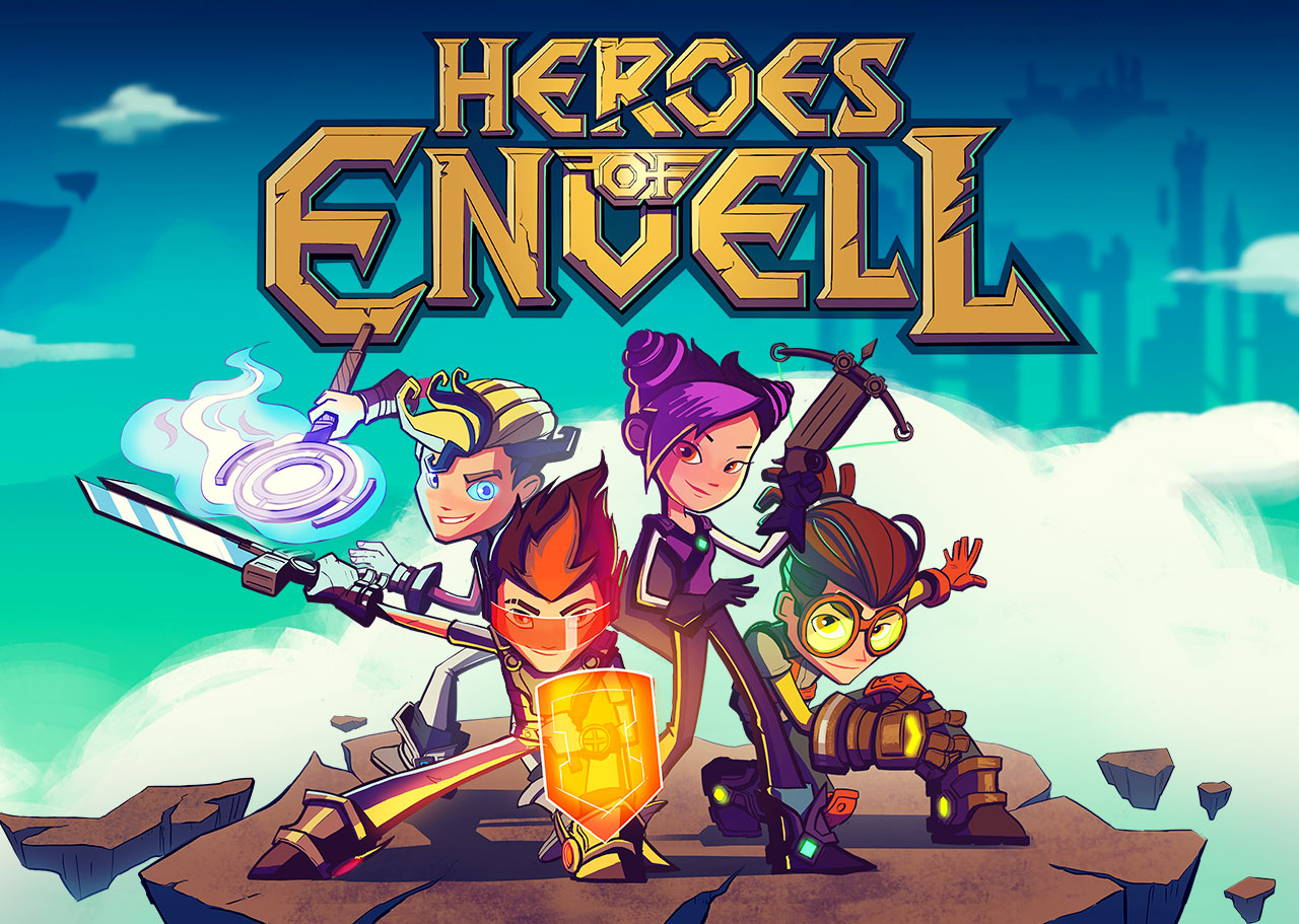 Heroes of Envell • Travelling into virtual world • Series poster