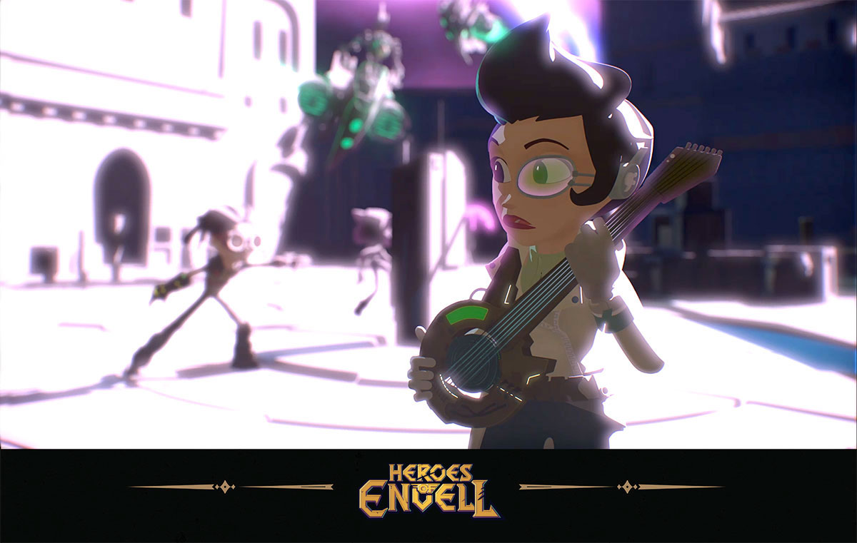 Heroes of Envell • Travelling into virtual world • School teacher first fight