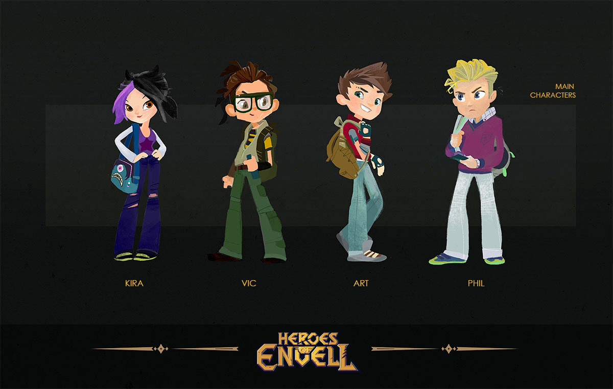 Heroes of Envell • Travelling into virtual world • Main characters concept