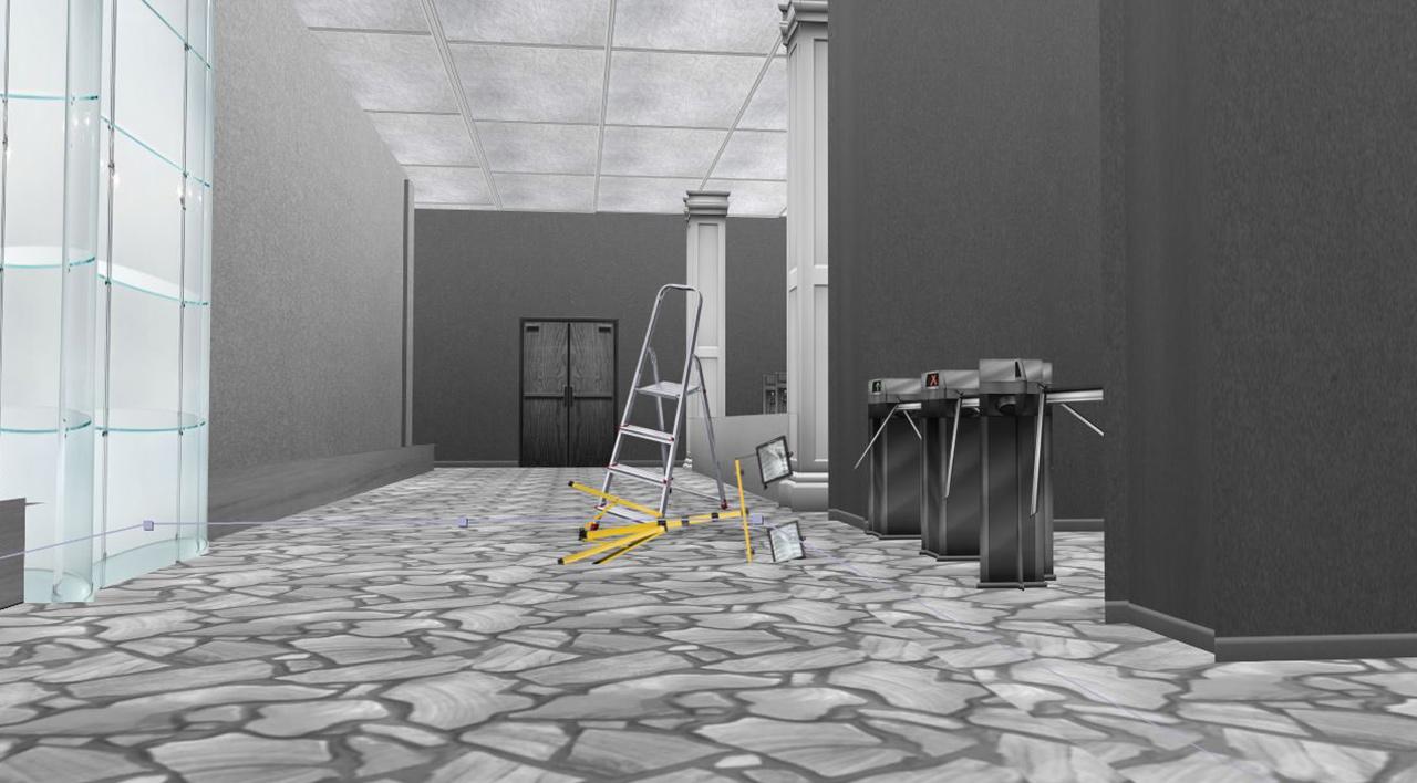 Школьный коридор – пример локации из 12-й серии, созданной для аниматика в After Effects