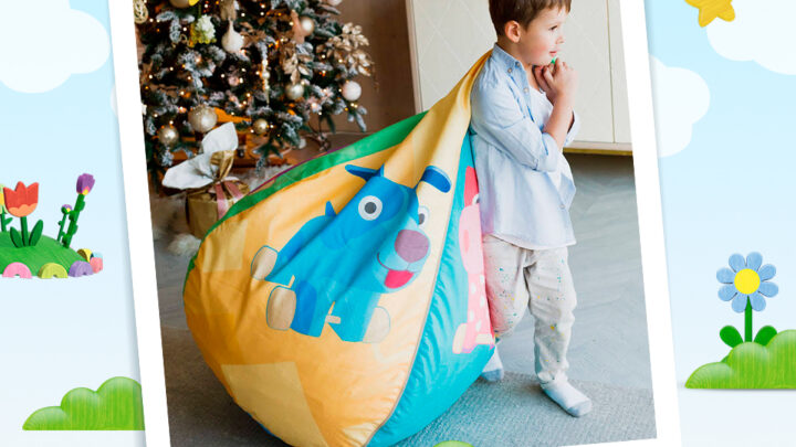 BEANBAG CHAIRS WITH WOODVENTURES CHARACTERS